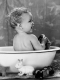 Bath Time Baby Photographic Print by H. Armstrong Roberts