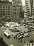 Busy Street and Plaza Hotel, New York City Photographic Print by George Marks
