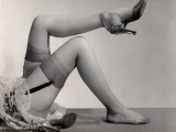 Woman's Nylon Stocking Legs With Garters and Heels Photographic Print by George Marks