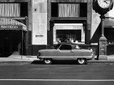 A Nash Car Parked in Front of Store, NYC Photographic Print by George Marks