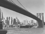 Brooklyn Bridge and Manhattan Skyline, New York City Photographic Print by George Marks