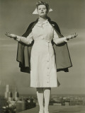 Female Nurse Standing on Rooftop Photographic Print by George Marks