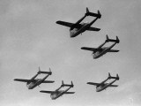 Flying Boxcars in Formation Photographic Print by George Marks