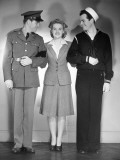 Portrait of Soldier, Woman and Sailor Photographic Print by George Marks