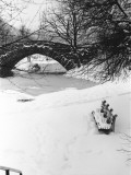Stone Bridge Over Snowcovered River Photographic Print by George Marks