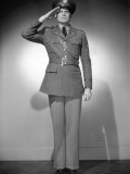 U. S. Army Officer in Uniform, Saluting Photographic Print by George Marks