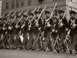 Parading Soldiers With Bayonets Photographic Print by George Marks