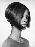 Portrait of Woman With Modern Haircut Photographic Print by George Marks