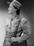 Woman Wearing Military Uniform Photographic Print by George Marks