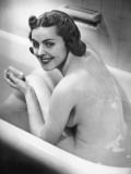 Naked Woman in Bathtub Photographic Print by George Marks