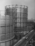 Large Grain Silos, (High Angle View) Photographic Print by George Marks