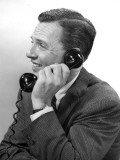 Businessman on the Telephone Photographic Print by George Marks