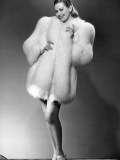 Glamorous Woman in Fur Coat Photographic Print by George Marks