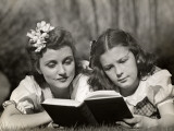 Mother Supervises Daughter's Reading Photographic Print by George Marks