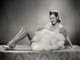 Show Girl With Feather Costume Photographic Print by George Marks