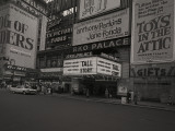 Billboards Outside Movie Theater Photographic Print by George Marks