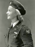 Woman in World War Ii Military Uniform Photographic Print by George Marks