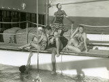 Men and Women By Pool on Cruise Ship Photographic Print by George Marks