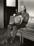 Businessman Waiting in Lobby Photographic Print by George Marks