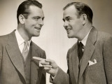 Two Male Executives Conversing Photographic Print by George Marks