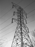 Electricity Pylon, Low Angle View Photographic Print by George Marks