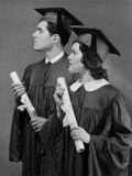 Portrait of High School Graduates Fotografie-Druck von George Marks