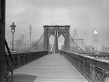 Brooklyn Bridge Pedestrian Walkway, NYC Photographic Print by George Marks