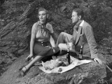 Couple Having Picnic Outdoors Photographic Print by George Marks