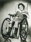 Portrait of Girl (8-9) in Wheelchair Photographic Print by George Marks