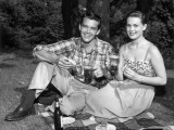 Couple Picnicking in Country Photographic Print by George Marks