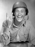 Army Soldier Gives Victory Sign Photographic Print by George Marks