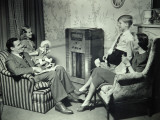 Family Listening To Radio Photographic Print by George Marks