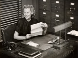 Woman Executive at Her Desk Photographic Print by George Marks