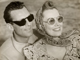 Couple With Sunglasses Photographic Print by George Marks