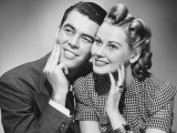 Couple Posing in Studio, Portrait Photographic Print by George Marks
