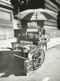 Street Hot Dogs Vendor Cart Photographic Print by George Marks