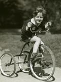 Little Boy Riding His Tricycle Photographic Print by George Marks