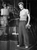 Woman Factory Worker Photographic Print by George Marks