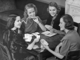Women Playing Cards Photographic Print by George Marks