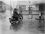 Flood Closes Street Photographic Print