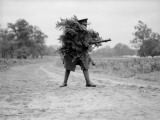 Camouflaged Soldier Photographic Print