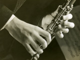 Man Playing Clarinet Photographic Print by George Marks
