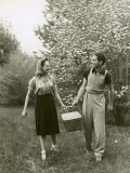 Couple on Picnic Photographic Print by George Marks