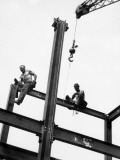 Men at Construction Site Photographie par George Marks