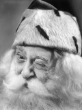 Santa Claus Winking Photographic Print by George Marks