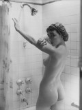 Naked Woman Showering Photographic Print by George Marks