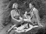 Couple Having a Picnic Photographic Print by George Marks