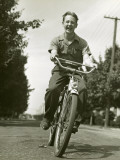 Boy on Bike Photographic Print by George Marks