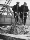 Demolition Workers Photographic Print