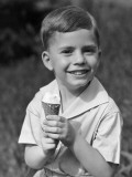 Boy With Ice-Cream Cone Photographic Print by George Marks